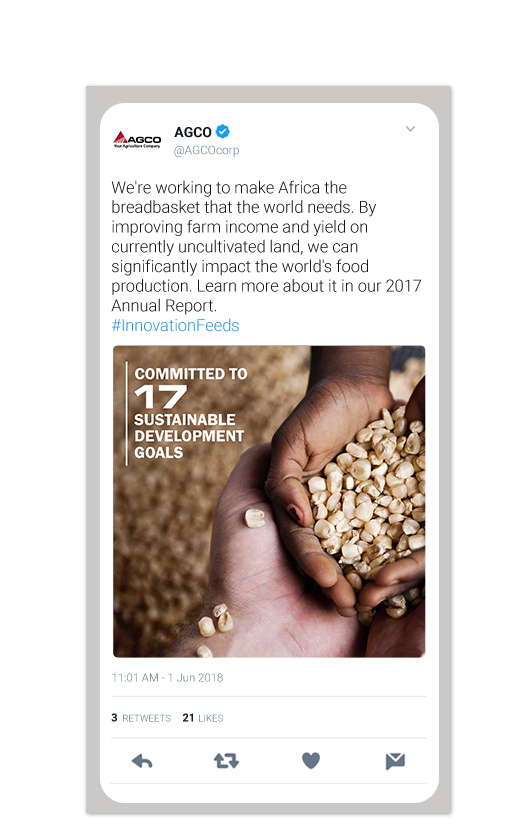 AGCO Annual Report Twitter