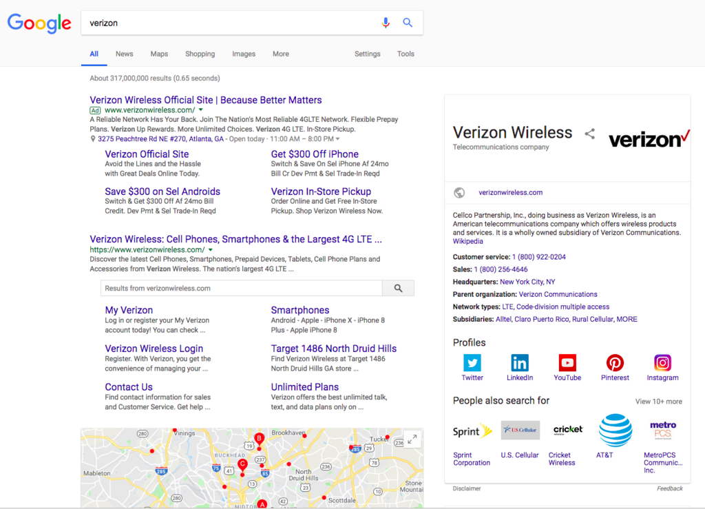 Screenshot Example of SEO Best Practices on Search Engine Results Page