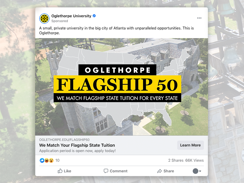 Vert Digital - Oglethorpe Flagship 50 Digital Advertising Campaigns Image 1